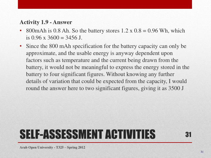Activity 1.9 - Answer