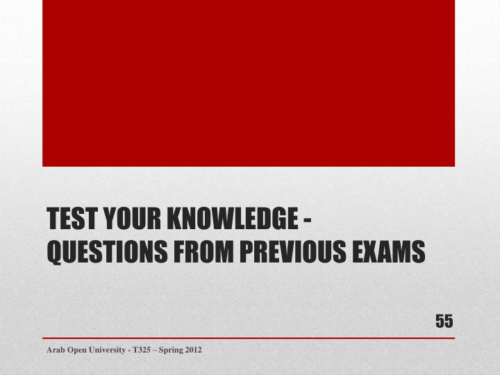 Test your knowledge -