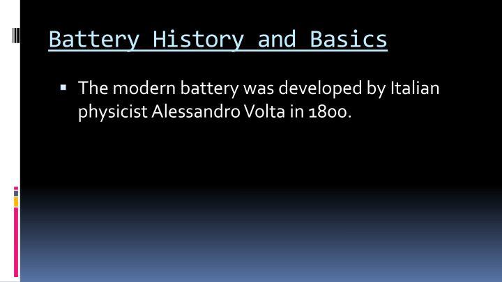 Battery history and basics