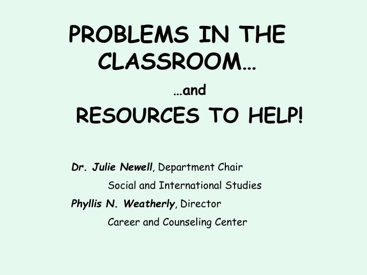 problems in the classroom