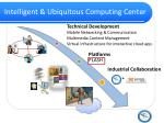 intelligent ubiquitous computing center