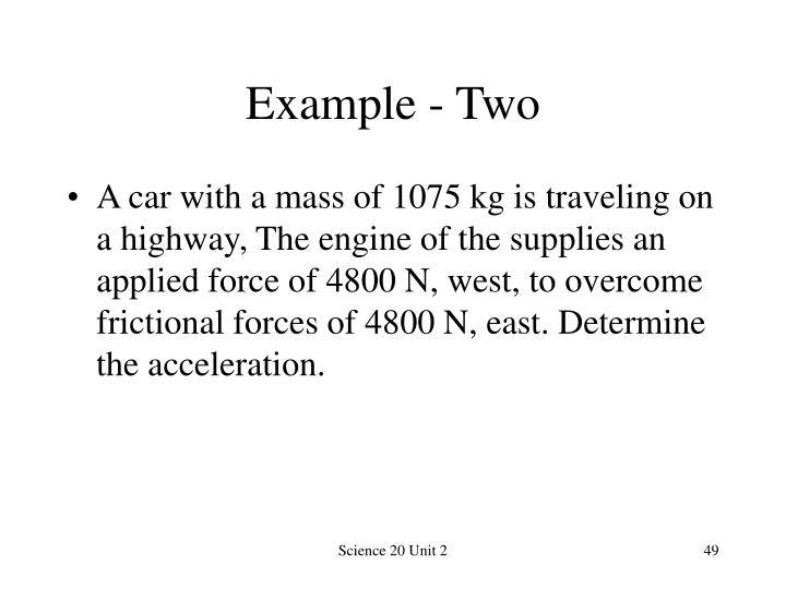 Example - Two