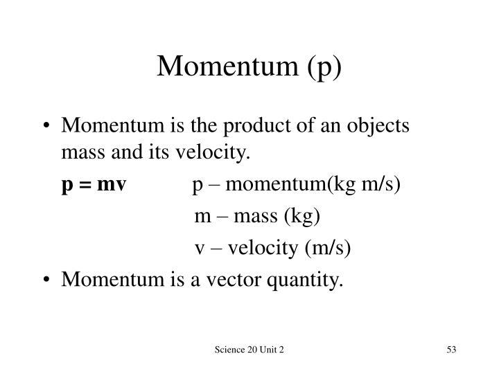 Momentum (p)