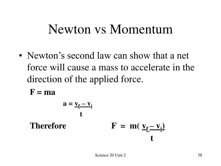 Newton vs Momentum