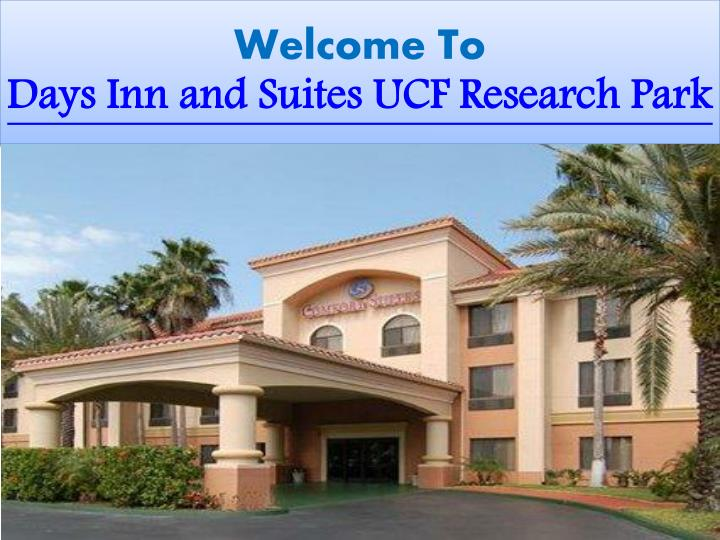 welcome to days inn and suites ucf research park n.