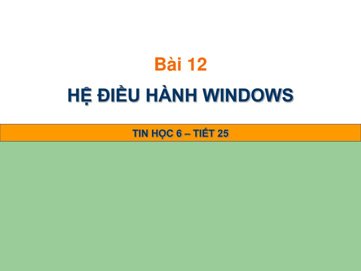 H i u h nh windows