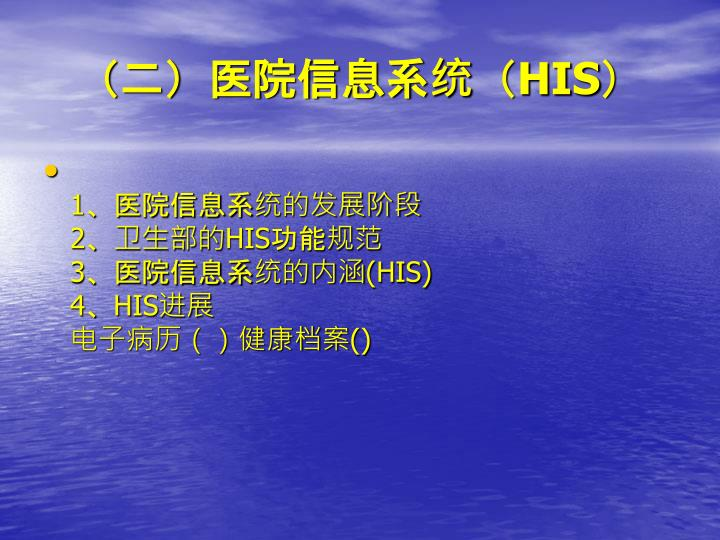 (二)医院信息系统(