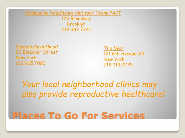 Community Healthcare Network Teens PACT
