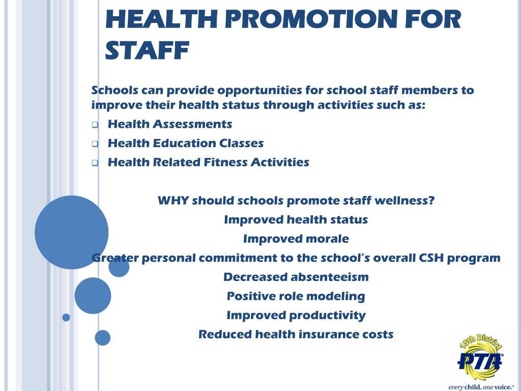 Health promoting schools healthy active living program