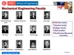 mechanical engineering faculty