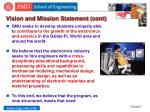 vision and mission statement cont