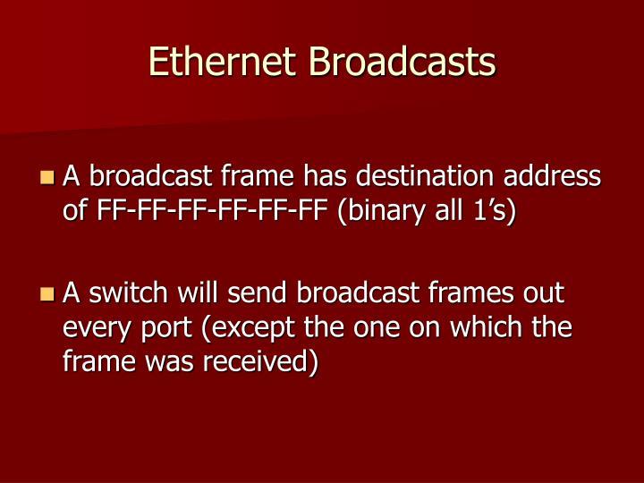 Ethernet Broadcasts