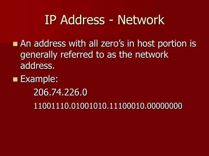 IP Address - Network