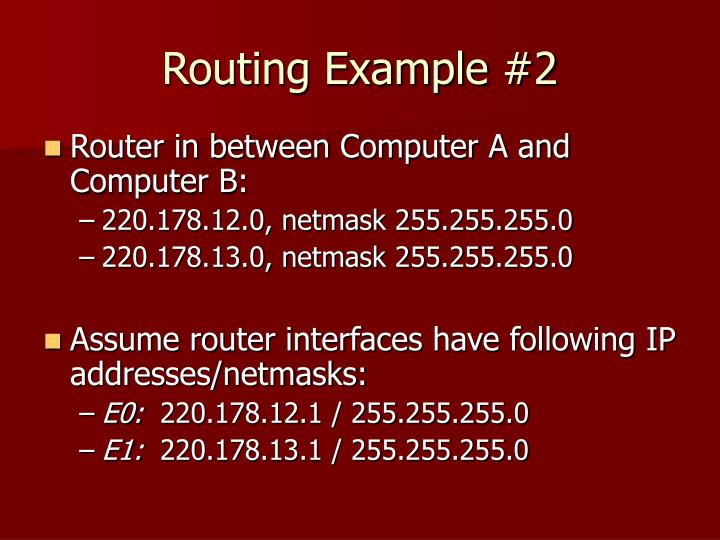 Routing Example #2