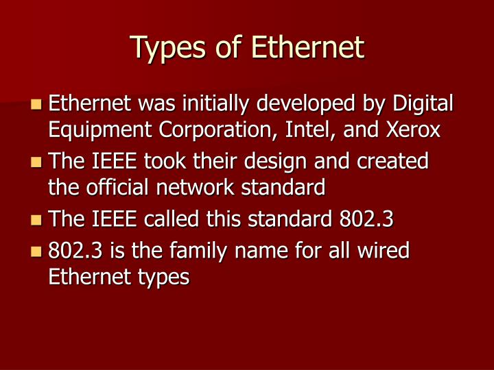 Types of Ethernet