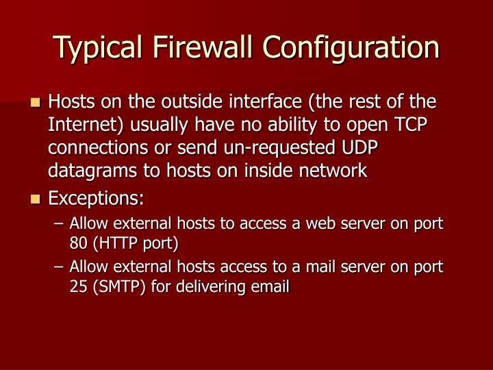 Typical Firewall Configuration