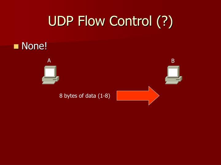 UDP Flow Control (?)