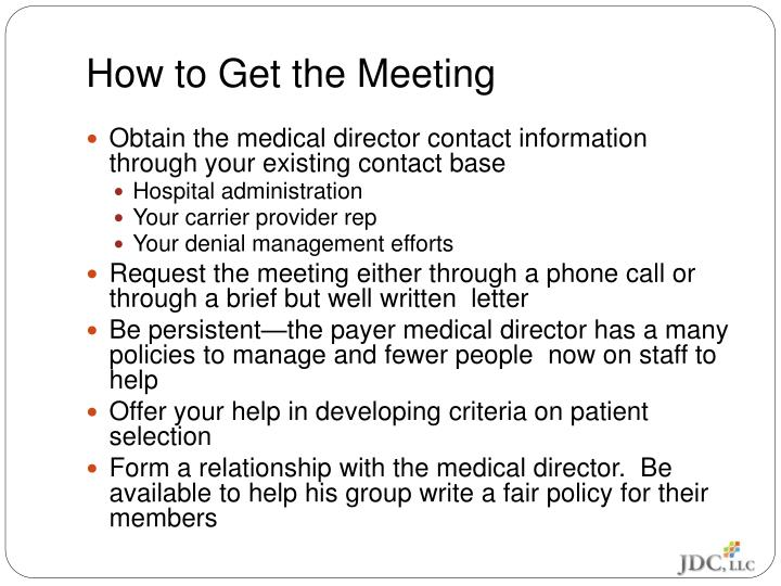 How to Get the Meeting
