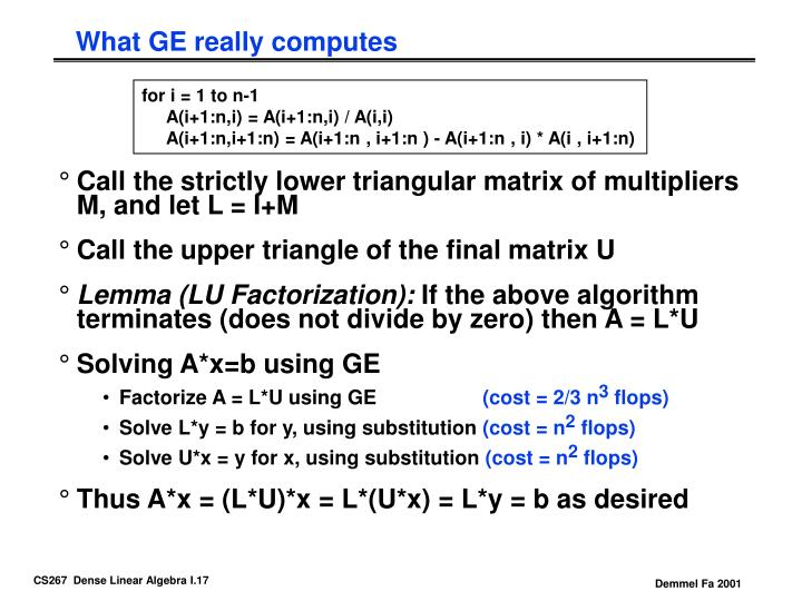 What GE really computes