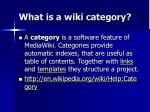 what is a wiki category