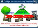 fungal genomics for energy environment