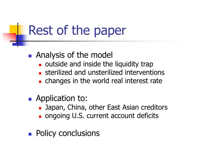 Rest of the paper