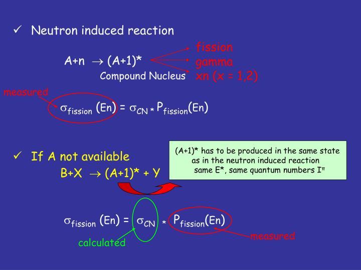 Neutron induced reaction