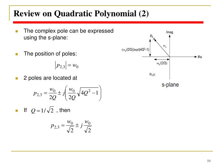 Review on Quadratic Polynomial (2)