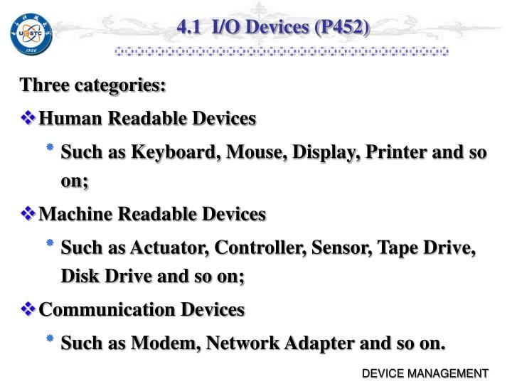 4 1 i o devices p452