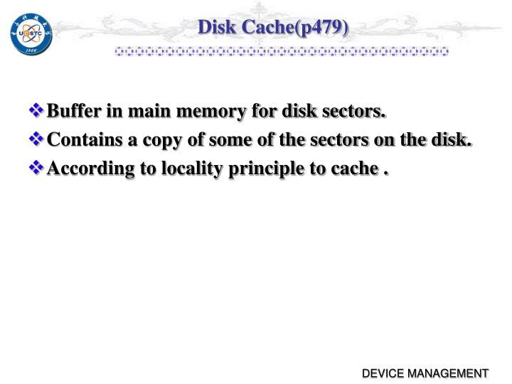 Disk Cache(p479)