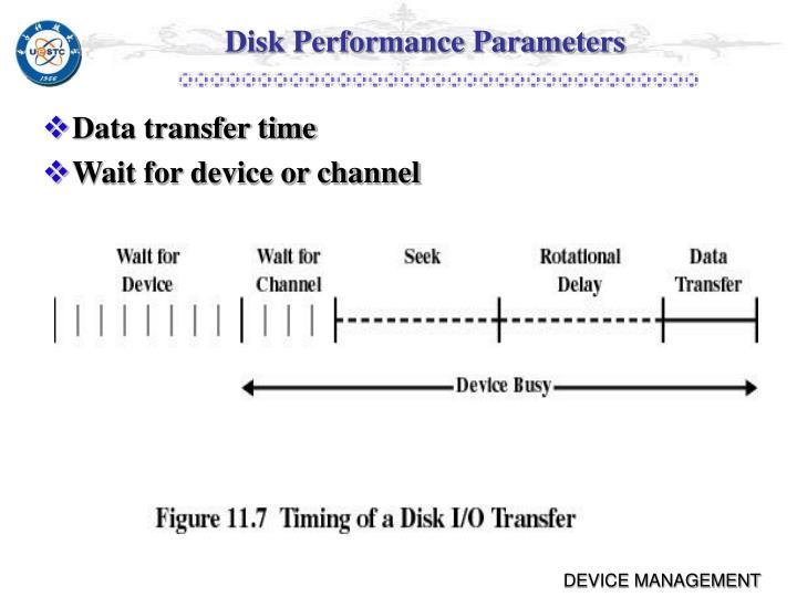 Disk Performance Parameters
