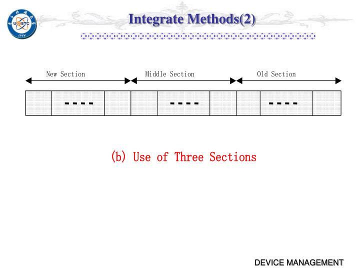 Integrate Methods(2)