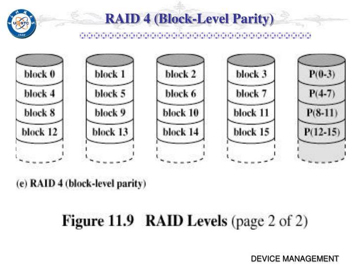 RAID 4 (Block-Level Parity)