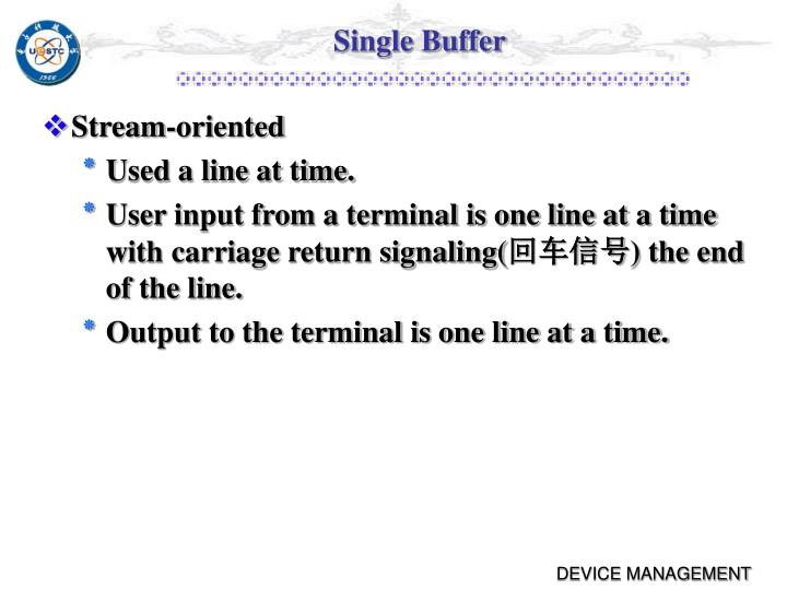 Single Buffer