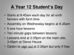 a year 12 student s day