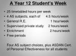 a year 12 student s week