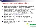 national rails are expected to