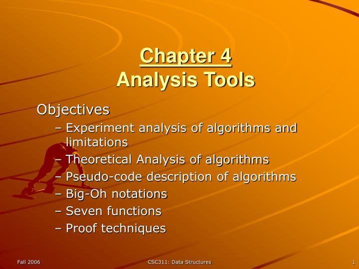 chapter 4 analysis tools n.