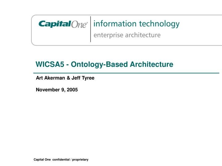 wicsa5 ontology based architecture n.