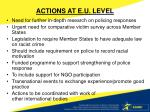 actions at e u level