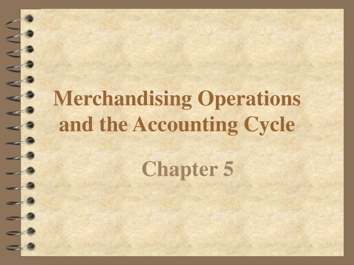 merchandising operations and the accounting cycle n.