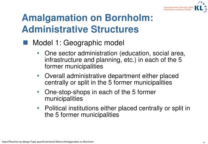 Amalgamation on Bornholm: Administrative Structures