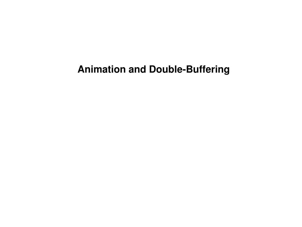 Animation Techniques in WIN32