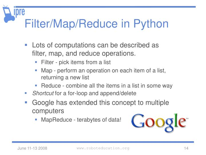Filter/Map/Reduce in Python