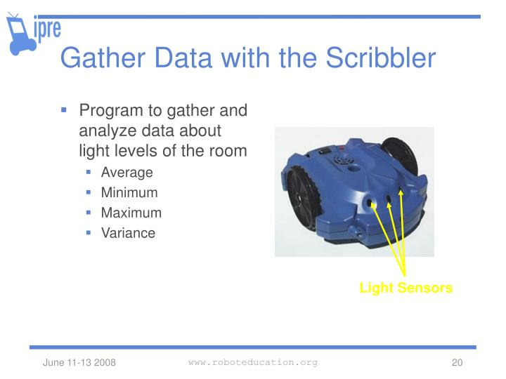 Gather Data with the Scribbler