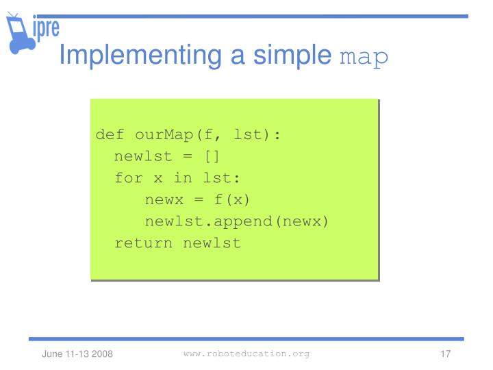 Implementing a simple