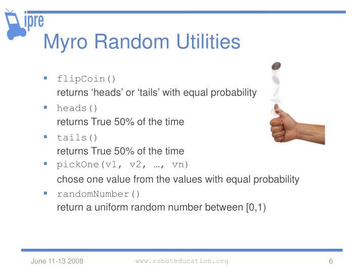 Myro Random Utilities