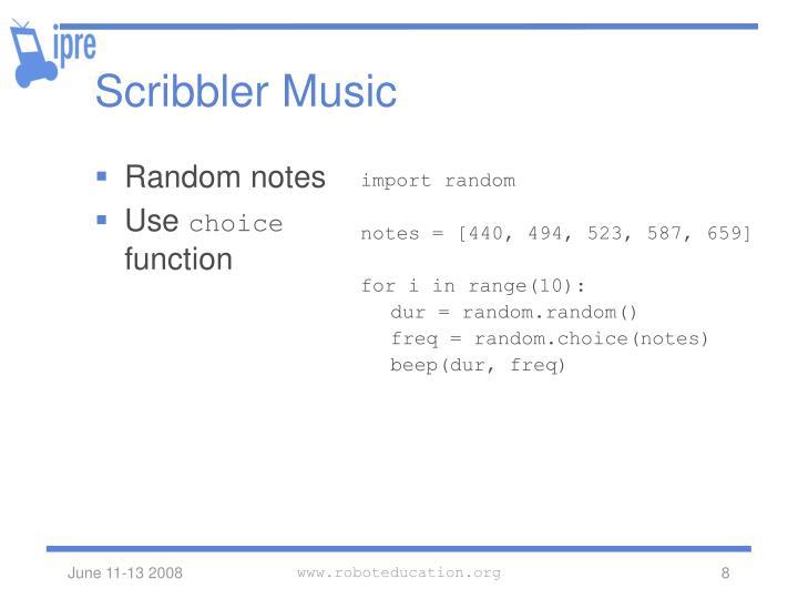 Scribbler Music
