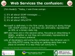 web services the confusion
