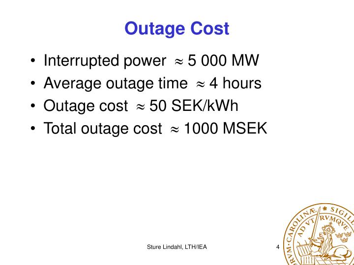 Outage Cost